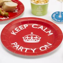 Keep Calm Party On Paper Plates (8)
